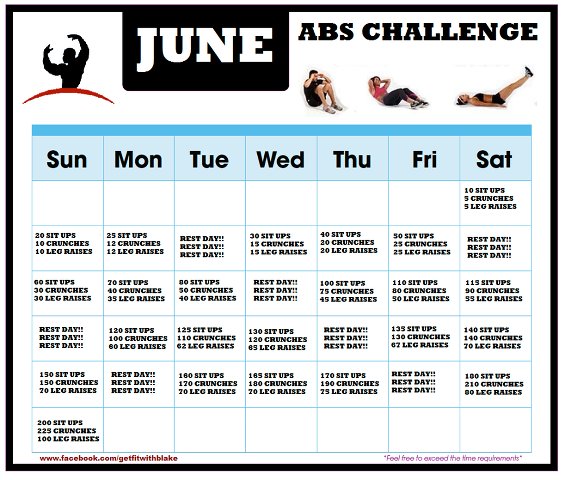 June is Abs Challenge Month