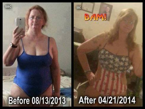 Evie has lost almost 40 pounds with Skinny Fiber