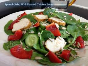 Spinach Salad with Roasted Chicken