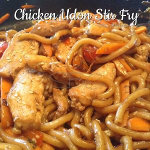 Chicken Udon Stir Fry