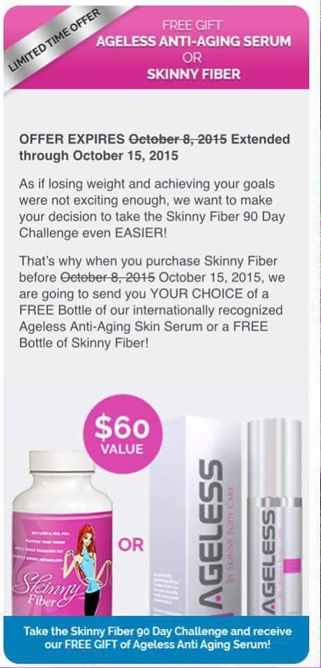 Free Ageless or Skinny Fiber 10.15.15