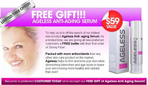 Free Bottle of Ageless 12.26.12